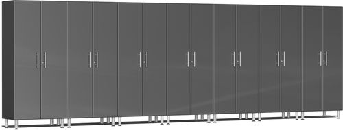 Graphite Grey Metallic MDF 7-Pc Tall Cabinet Kit