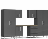 Graphite Grey Metallic MDF 7-Piece Kit with Workstation
