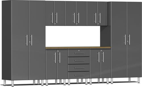 Graphite Grey Metallic MDF 9-Piece Kit with Worktop