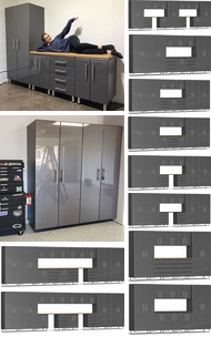 Items in Graphite Grey Metallic MDF Cabinets