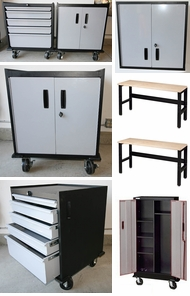 Items in Gray Steel Garage Cabinets