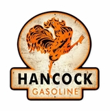 Hancock Old School Gasoline Metal Sign