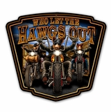 Hawgs Out Metal Sign