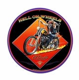 Hell On Wheels Metal Sign