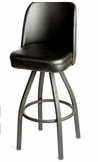 High Back Shop Stool With Powdercosted Legs