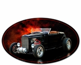 HIGH BOY ROADSTER OVAL Metal Sign