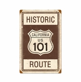 Historic Route 101 Metal Sign