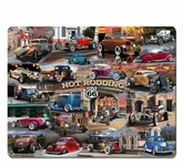 HOT ROD COLLAGE Metal Sign
