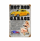 Hot Rod Garage Metal Sign