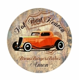 Hot Rod Heaven Metal Sign