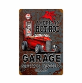 Hot Rod Mobile Gas Metal Sign