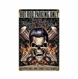 Hot Rod Parking Metal Sign