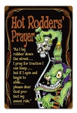 Hot Rod Prayer Metal Sign