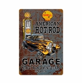 Hot Rod Shell Gas Metal Sign