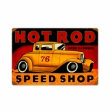 Hot Rod Speed Shop Metal Sign