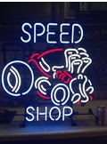 Hot Rod Speed Shop Neon Sign