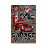 Hot Rod Texaco Gas Metal Sign