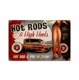 Hot Rods And High Heels Metal Sign