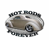 Hot Rods Forever Metal Sign