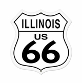 Illinois Route 66 Metal Sign