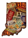 Indiana License Plates Metal Sign