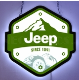 Jeep Since 1941 Slim Led Sign