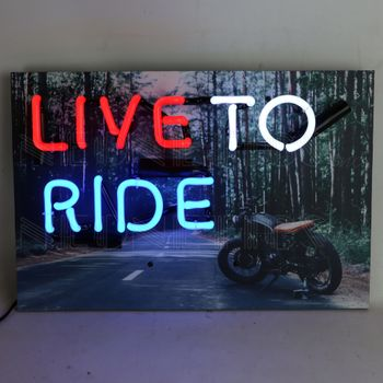 Junior Live To Ride Neon Sign