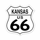 Kansas Route 66 Metal Sign