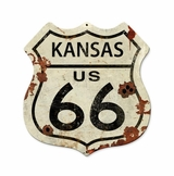 Kansas US Route 66 Metal Sign