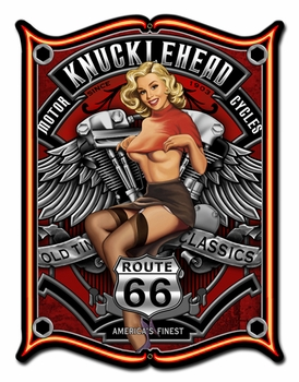 Knucklehead Metal Sign