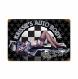 Krissies Auto Metal Sign