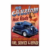 Kustom Hot Rods Metal Sign