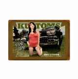 Kustoms Park Here Metal Sign