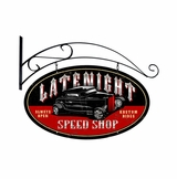 Latenight Speed Shop Metal Sign
