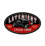 Latenite Speed Shop Metal Sign