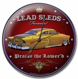 Lead Sleds Forever Round Metal Clock
