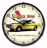 LED Lighted 1971 Dodge Demon Clock