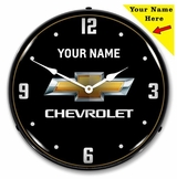 LED Lighted Add Your Name Chevrolet 2 to 4 Weeks for Delivery Clock