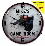 Personalized LED Lighted Game Room Clock