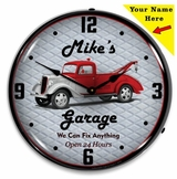 Personalized LED Lighted Garage Clock