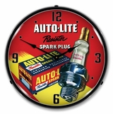 LED Lighted Autolite Resistor Spark Plugs Clock