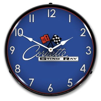 LED Lighted C2 Corvette Clock