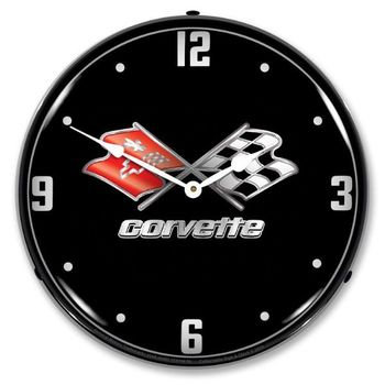 LED Lighted C3 Corvette Black Tie Clock