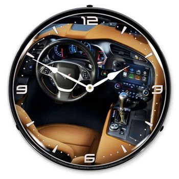 LED Lighted C7 Corvette Dash Clock