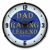 LED Lighted Dad the Racing Legend Clock