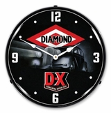 LED Lighted DX Lubricating Motor Fuel Clock