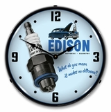 LED Lighted Edison Spark Plugs Clock