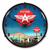 LED Lighted Flying A Gas Station Clock