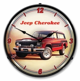LED Lighted Jeep Cherokee Clock