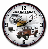 LED Lighted Jeep CJ Accessories Clock